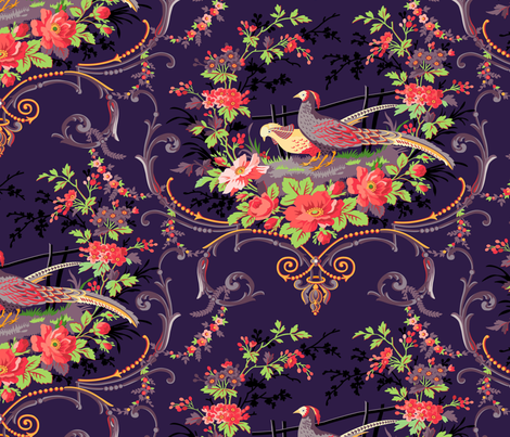 For Life - Pheasants fabric by tracymillerdesigns on Spoonflower - custom fabric