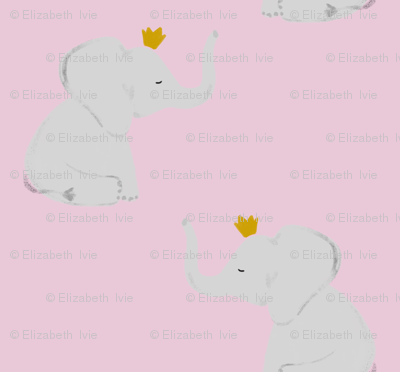 crowned elephants // cotton candy