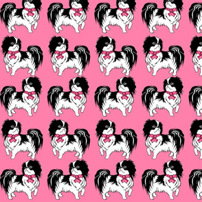 Japanese Chin pink fabric design