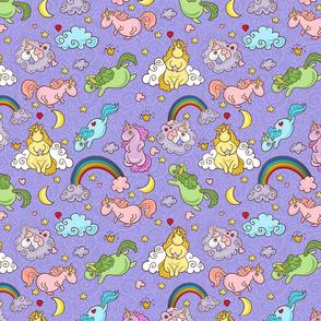 Cute unicorns seamless pattern.