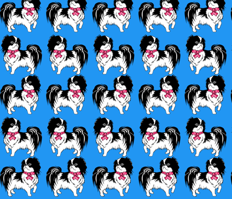 japanese chins blue fabric by dogdaze_ on Spoonflower - custom fabric