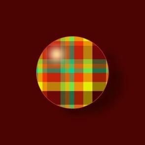 BN12 - LG - Summer Romp Plaid Polka Dots on Rust