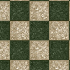hunter green and beige tiled pattern