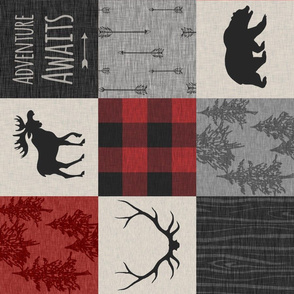 Adventure Awaits Quilt- Red,Black And grey - RO