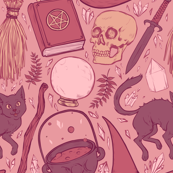 Witch Supplies in Dusty Rose