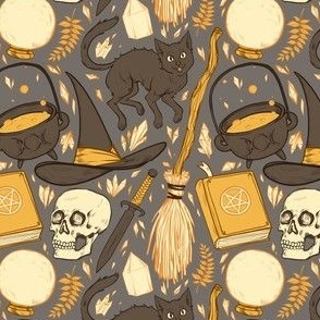 Witch Supplies in Warm Grey