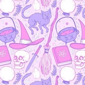Witch Supplies in Pastel