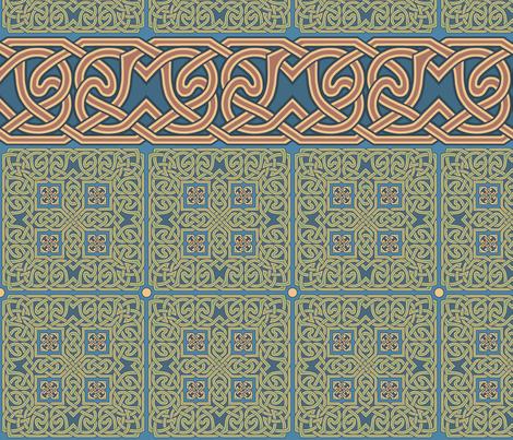 Celtic Knotwork Borders 1 fabric by bradley_w_schenck on Spoonflower - custom fabric