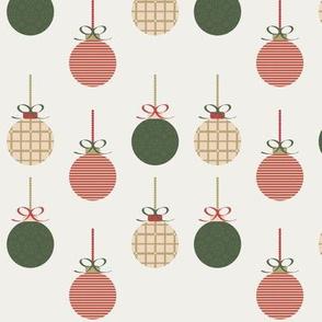 Christmas balls, cream