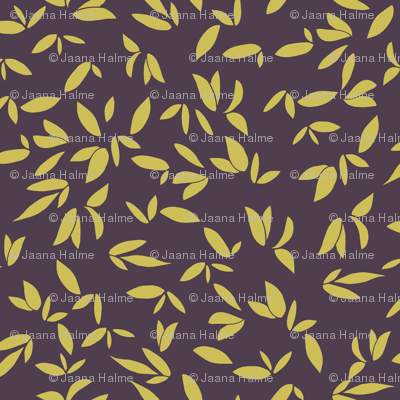 Leaves Plum Gold
