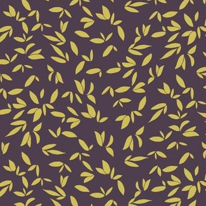Leaves Plum Gold
