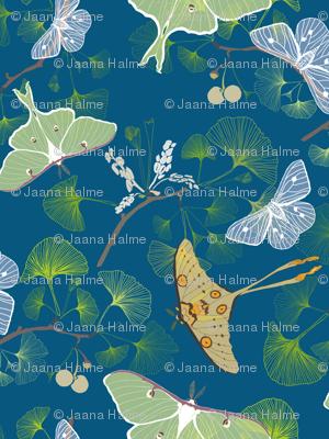 Luna Moth Blue Forest