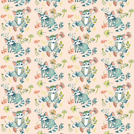 01 racoons - small scale fabric by gomboc on Spoonflower - custom fabric