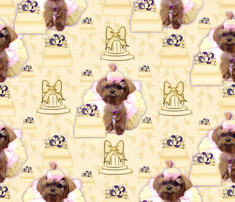 Yorkie - Celebration - Birthday fabric by sherry-savannah on Spoonflower - custom fabric