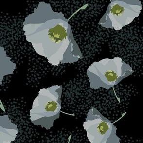 Small Poppies Gray