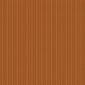Herringbone-vertical-black/orange