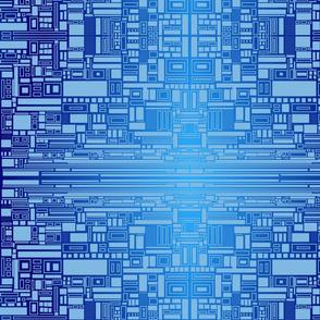 Blue geometric squares