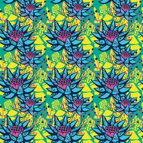 CMYK Lotus Floral Botanical