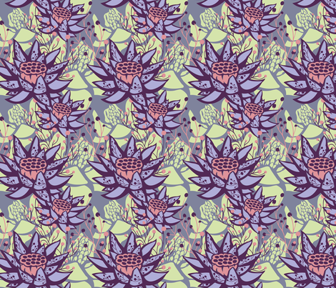 Candy Lotus Floral Botanical  fabric by laurie_shipley on Spoonflower - custom fabric