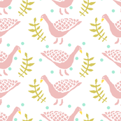 Stamped Pink Ducks