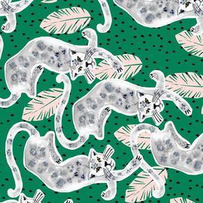 Tropicana Jaguar (emerald) UPHOLSTERY SIZE ROTATED