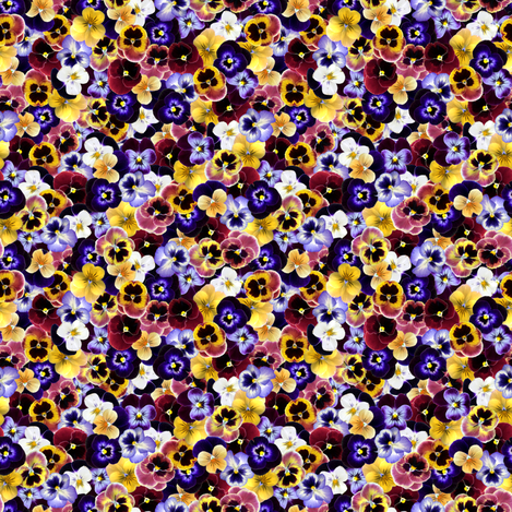Small Pansy Field fabric by sammichsewing on Spoonflower - custom fabric