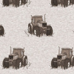 "3.5"" Old Tractors - Soft brown"