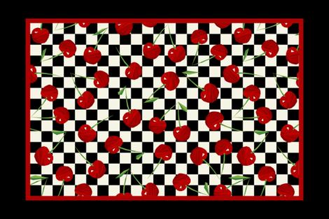 Retro Cherries fabric by artsytoocreations on Spoonflower - custom fabric