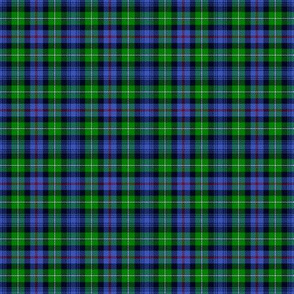 "Mackenzie / Seaforth Highlander tartan, 2"", modern colors (twill lines)"