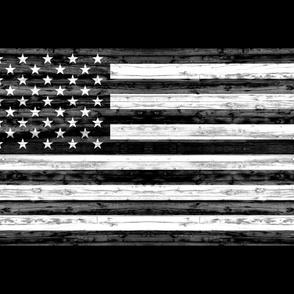 1 yard minky  - B&W Distressed Flag Panel - C18BS