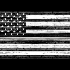 1 yard minky - Thin Silver Line Flag - Correctional officer C18BS