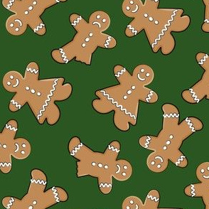 gingerbread man cookie  toss on pine