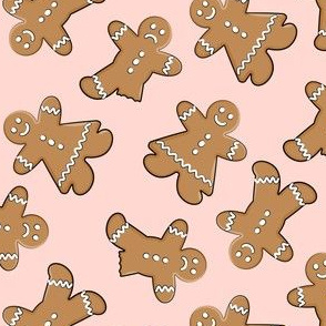gingerbread man cookie  toss on pink