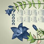 2020 Calendar, Sunday / Gentian