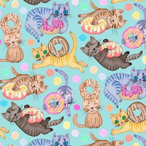 Sprinkles on Donuts and Whiskers on Kittens light blue background - small