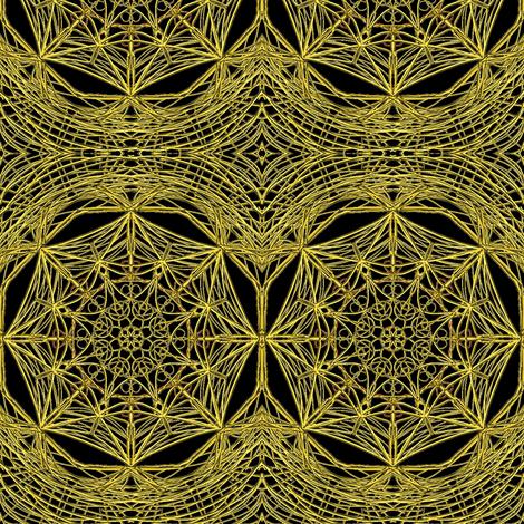 Antique Gilt Lace Cloth on Deep Black  fabric by rhondadesigns on Spoonflower - custom fabric