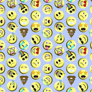 Emojis on blue