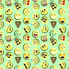 Emojis on green
