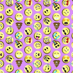 Emojis on purple