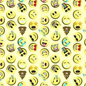 Emojis on yellow