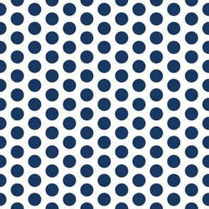 Medium Navy Dot on White FS Admiral Polka Dot