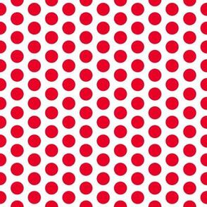 Medium Red Dot on White FS Cherry