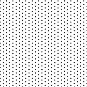 Small Black Dot on White FS Raven Polka Dot