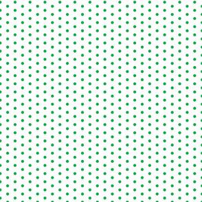 Green Dot on White FS Grass Green Polka Dot