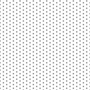 Grey Dot on White FS Steel Grey Gray Polka Dot