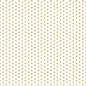 Small Orange Dots on White FS Carrot Orange Polka Dot