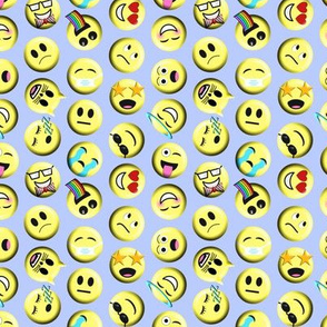 Emojis on blue without poop emoji