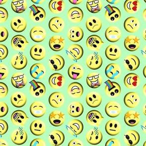 Emojis on green without poop emoji