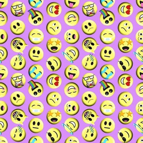 Emojis on purple without poop emoji