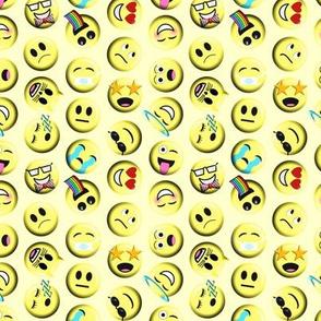 Emojis on yellow without poop emoji